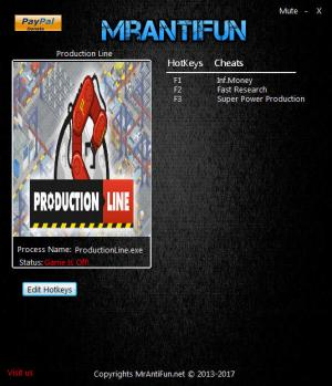 Production Line Trainer +3 v1.21 {MrAntiFun}