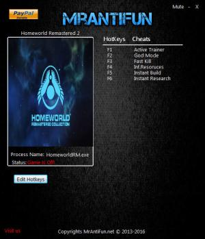 Homeworld: Remastered Collection Trainer +5 v2.00 {MrAntiFun}