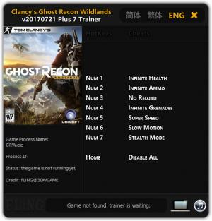 Tom Clancy's Ghost Recon Wildlands Trainer +7 v21.07.2017 {FLiNG}