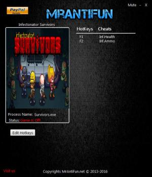 Infectonator : Survivors Trainer for PC game version 1.06