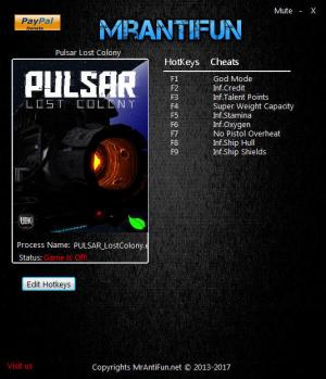 PULSAR: Lost Colony Trainer +9 v15.1 Beta {MrAntiFun}