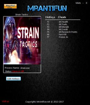Strain Tactics Trainer for PC game version 07.19.201
