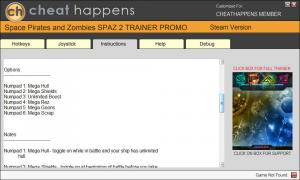 Space Pirates and Zombies 2 Trainer for PC game version 0.9.9