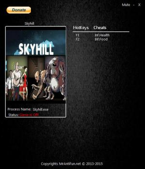 Skyhill Trainer for PC game version 1.1.20