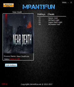 Near Death Trainer +4 v1.0.7 {MrAntiFun}