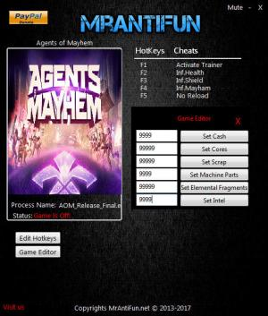 Agents of Mayhem Trainer +10 v1.00 {MrAntiFun}