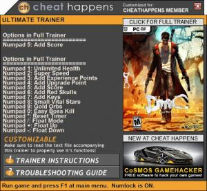 DmC: Devil May Cry Trainer +14 Patch 08.20.2017 (Cheat Happens)