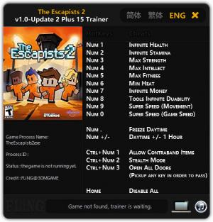 The Escapists 2 Trainer +15 v1.0 - Update 2 {FLiNG}