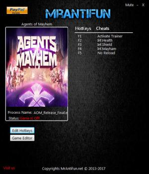 Agents of Mayhem Trainer +10 v08.24.2017 {MrAntiFun}