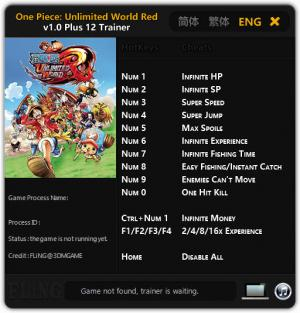 One Piece: Unlimited World Red Trainer +12 v1.0 {FLiNG}