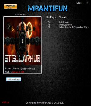 StellarHub Trainer for PC game version 1.03
