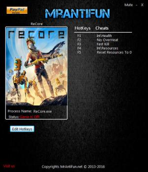 ReCore Trainer for PC game version 1.1.7400.2