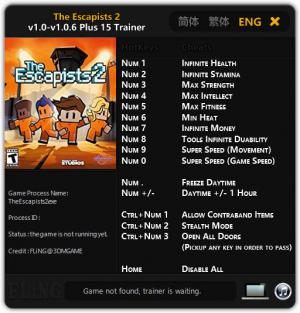 The Escapists 2 Trainer +15 v1.0 - 1.0.6 {FLiNG}