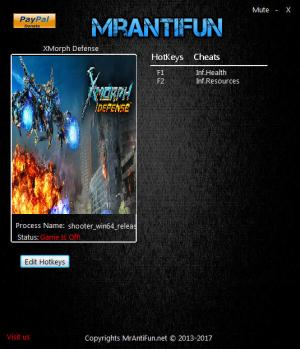 X-Morph: Defense Trainer +2 v1.00 {MrAntiFun}