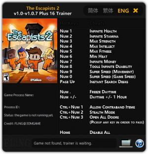 The Escapists 2 Trainer +16 v1.0 - 1.0.7 {FLiNG}