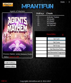 Agents of Mayhem Trainer +10 v09.11.2017 {MrAntiFun}