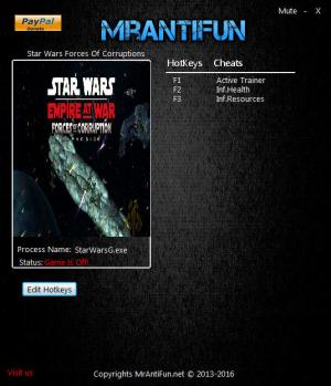 Star Wars: Empire at War - Forces of Corruption Trainer +2 v1.121 {MrAntiFun}