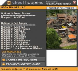 Banished Trainer +12 v1.0.7 Build 170910 64bit (Cheat Happens)
