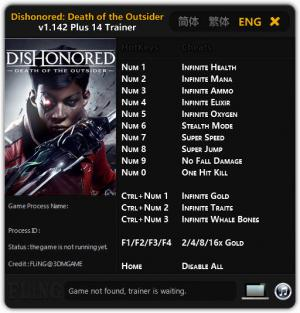 Dishonored: Death of the Outsider Trainer +14 v1.142 {FLiNG}