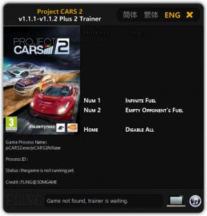Project CARS 2 Trainer +2 v1.1.1 - 1.1.2 {FLiNG}