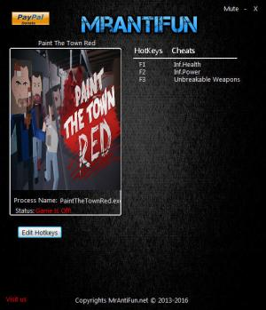 Paint The Town Red Trainer +3 v0.8.21 64bit {MrAntiFun}