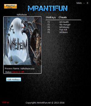 Niffelheim Trainer for PC game version 0.9.019