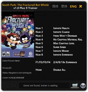 South Park: The Fractured but Whole Trainer +9 v1.0 {FLiNG}