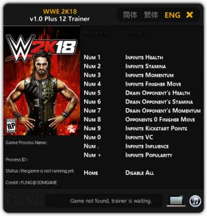WWE 2K18 Trainer for PC game version 1.0