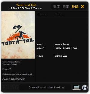 Tooth and Tail Trainer +2 v1.0 - 1.0.5 {FLiNG}