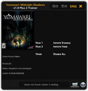 Yomawari: Midnight Shadows Trainer for PC game version v1.0