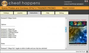 Space Pirates and Zombies 2 Trainer for PC game version 1.0