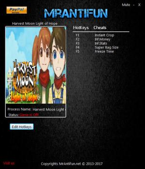 Harvest Moon: Light of Hope Trainer +5 v1.00 {MrAntiFun}