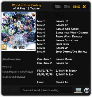 World of Final Fantasy Trainer +13 v1.0 {FLiNG}