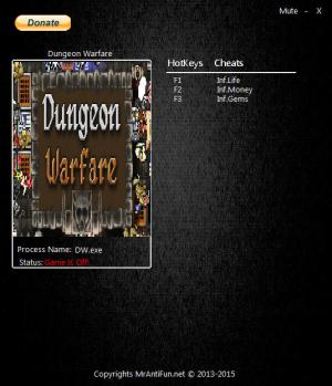 Dungeon Warfare Trainer +3 v1.00 {MrAntiFun}
