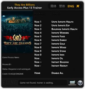 They Are Billions Trainer +13 Early Access {FLiNG}
