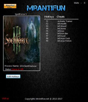 SpellForce 3 Trainer +8 v12.16.2017 {MrAntiFun}