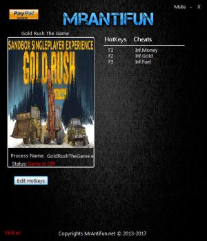 Gold Rush: The Game Trainer +3 v1.1.6653 {MrAntiFun}
