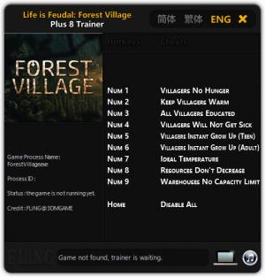 Life is Feudal: Forest Village Trainer +8 Early Access Updated 2017.12.27 {FLiNG}