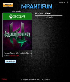 Killer Instinct Trainer +1 v3.9.39080 {MrAntiFun}