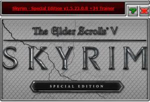 The Elder Scrolls 5: Skyrim Special Edition Trainer for PC game version v1.5.23.0.8