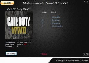 Call of Duty: WW2 Trainer +4 v01.01.2018 {MrAntiFun}