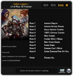 Fallen Legion Plus Trainer +10 v1.0 {FLiNG}