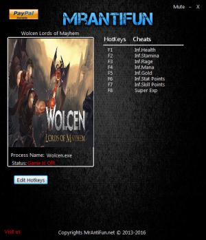 Wolcen: Lords of Mayhem Trainer for PC game version v0.5.0.4b