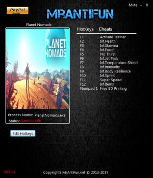 Planet Nomads Trainer +12 v0.8.5.0 {MrAntiFun}