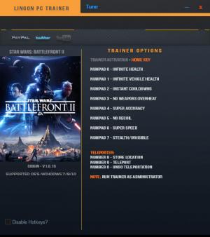 Star Wars: Battlefront 2 2017 Trainer +10 v1.0.15 {LinGon}