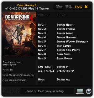 Dead Rising 4 Trainer +11 v1.0 - 05.12.2017 {FLiNG}