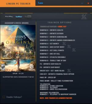 Assassin's Creed: Origins Trainer +18 v1.20 {LinGon}