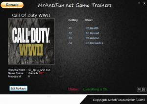 Call of Duty: WW2 Trainer for PC game version v02.14.2018
