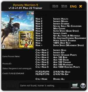 Dynasty Warriors 9 Trainer +22 v1.0 - 1.01 {FLiNG}