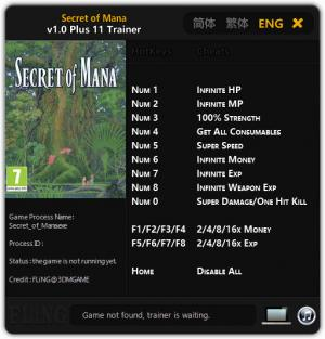 Secret of Mana Trainer +11 v1.0 {FLiNG}